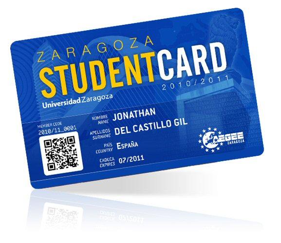 AEGEE Zaragoza Student Card